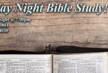 Thursday Night Bible Study!